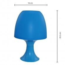 Velamp Mushroom lampada da tavolo blu e27