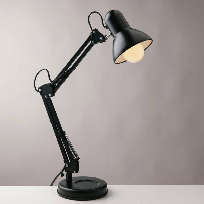 Fan lampada da tavolo architetto nero e27
