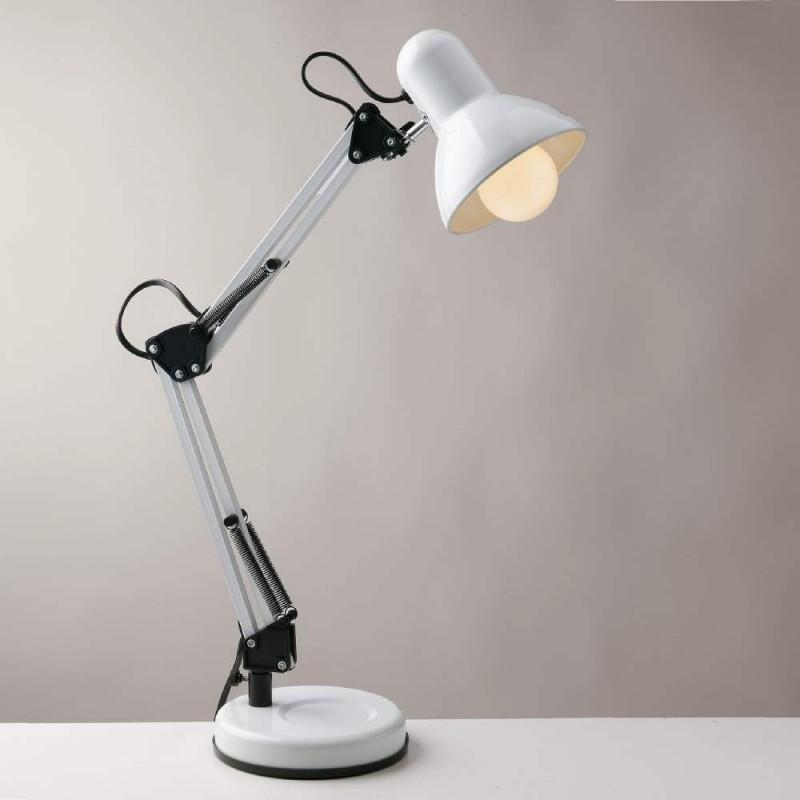 Fan lampada da tavolo architetto bianco e27 60w