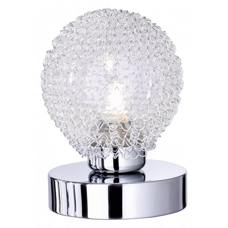 Lampada Da Tavolo Wire 1xG9 Cromo Vetro Trio Lighting